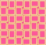 Abstract seamless pattern texture of golden rectangular frames over Pink background template Vector illustration. Computer graphic design cartoon illustration stock illustration