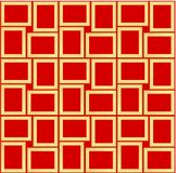 Abstract seamless pattern texture of golden rectangular frames over red background template Vector illustration. Computer graphic design cartoon illustration vector illustration