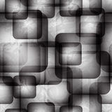 Abstract seamless pattern with transparent squares Royalty Free Stock Images