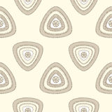 Abstract Seamless pattern with triangle in beige Royalty Free Stock Images