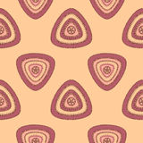 Abstract Seamless pattern with triangle in beige lilac Stock Photo