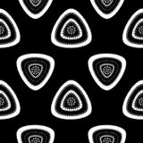 Abstract Seamless pattern with triangle in black white dark Royalty Free Stock Photography