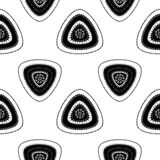 Abstract Seamless pattern with triangle in black white light Stock Photos
