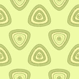 Abstract Seamless pattern with triangle in green light Royalty Free Stock Photography