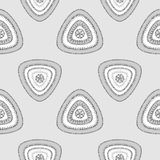 Abstract Seamless pattern with triangle in grey silver Stock Photos