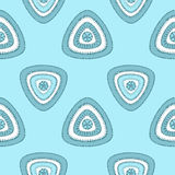 Abstract Seamless pattern with triangle in marine blue Royalty Free Stock Photos