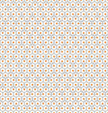 Abstract seamless pattern with triangles and circles. Abstract seamless pattern with gray triangles with orange circles on their vertices on gray circles on Royalty Free Stock Images