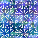 Abstract seamless pattern. Triangles drawn on geometric shapes Stock Photo