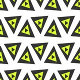 Abstract seamless pattern of triangles. Funny background of geometric shapes. Stock Photography