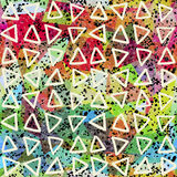 Abstract seamless pattern. Triangles and grunge texture Royalty Free Stock Photos