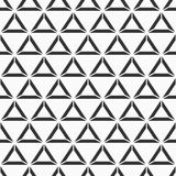 Abstract seamless pattern of triangles separated on three part. Modern stylish texture. Repeating geometric tiles. Hipster monochrome print. Trendy graphic vector illustration