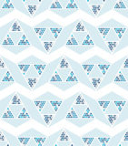 Abstract seamless pattern of triangles. Shades of blue. Movement of geometric shapes Royalty Free Stock Photography