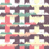 Abstract seamless pattern of triangles and small forms. Grunge texture. royalty free illustration