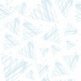 Abstract seamless pattern of triangles in the style of grunge. Delicate shades of blue. Stock Photography