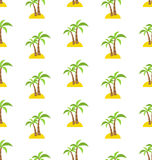 Abstract Seamless Pattern with Tropical Palm Trees. Summer Royalty Free Stock Photos