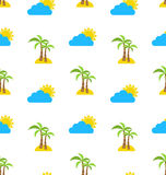 Abstract Seamless Pattern with Tropical Palm Trees Stock Photography