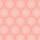 Abstract seamless pattern. Vector background in pink and white colors. Can be used for wallpaper, pattern fills, surface textures, scrapbooking, fabric prints Stock Illustration