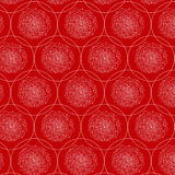 Abstract seamless pattern. Vector background in red and white colors. Can be used for wallpaper, pattern fills, surface textures, scrapbooking, fabric prints Stock Illustration