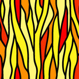 Abstract seamless pattern. Of vertical lines color of the flame. Can be used for Wallpaper, fabrics, packaging Stock Images