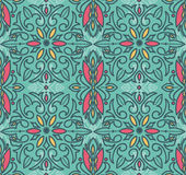 Abstract seamless pattern in victorian style. Vector illustration Royalty Free Stock Photos