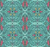 Abstract seamless pattern in victorian style. Vector illustration stock illustration