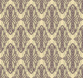 Abstract seamless pattern in victorian style. Vector illustration royalty free illustration