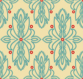 Abstract seamless pattern in victorian style Stock Photo