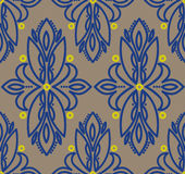 Abstract seamless pattern in victorian style. Vector illustration Stock Photos