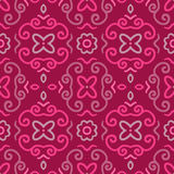 Abstract seamless pattern with vintage pink ornament Royalty Free Stock Photo