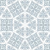 Abstract seamless pattern in vintage style. Interlocking shapes and textures. stock illustration
