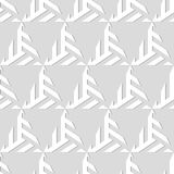 Abstract seamless pattern of volumetric geometric shapes. Stock Image