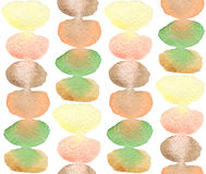 Abstract seamless pattern with watercolor swatches Royalty Free Stock Photos
