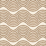An abstract seamless pattern. Wave ornament brown palette Stock Photo