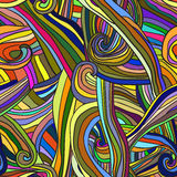 Abstract seamless pattern waves, Vector background Royalty Free Stock Photography