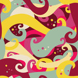 Abstract seamless pattern with waves. Abstract vector seamless pattern with colorful waves Stock Images