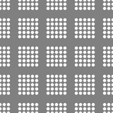 Abstract seamless pattern. Whith white circles stock illustration