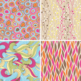 Abstract seamless patterns Stock Photography