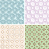 Abstract seamless patterns Royalty Free Stock Images