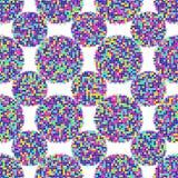 Abstract seamless patterns circles. Shapes geometric pattern circles dots- illustration. Dots neon background . An original print royalty free illustration