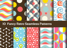 Abstract seamless patterns. Geometrical and ornamental motifs Stock Photos
