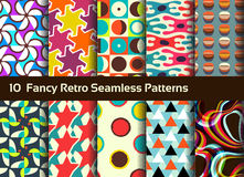 Abstract seamless patterns. Geometrical and ornamental motifs Royalty Free Stock Photography