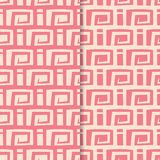 Abstract seamless patterns. Red and pink backgrounds for textile and fabrics. Abstract seamless patterns. Red and pink backgrounds for textile, wallpapers and stock illustration