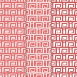 Abstract seamless patterns. Red and pink backgrounds for textile and fabrics. Abstract seamless patterns. Red and pink backgrounds for textile, wallpapers and vector illustration
