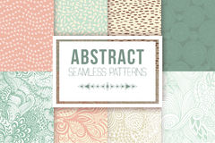 Abstract seamless patterns se vector textures Royalty Free Stock Photography