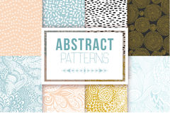 Abstract seamless patterns se vector textures Royalty Free Stock Photo