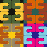 Abstract seamless patterns Royalty Free Stock Photos