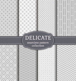 Abstract seamless patterns. Vector set. Royalty Free Stock Photo