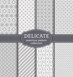 Abstract seamless patterns. Vector set. Stock Image