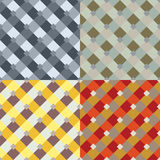 Abstract seamless patterns vector set Stock Image