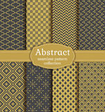 Abstract seamless patterns. Vector set. Royalty Free Stock Photography